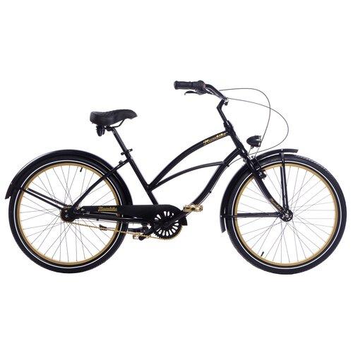 Rower miejski PLUMBIKE La Donna Gold Black 7B 26 cali damski Czarny