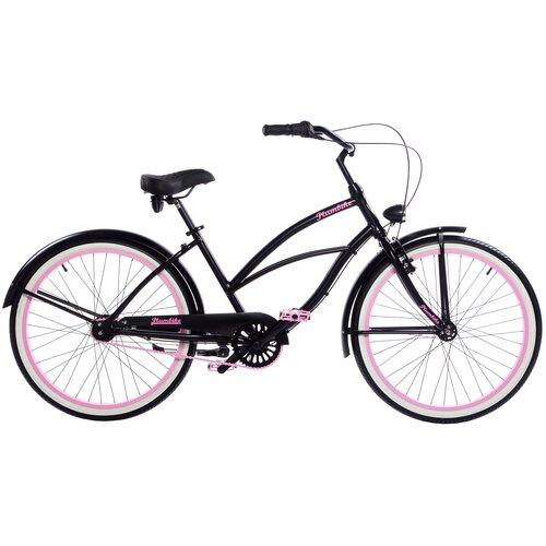 Rower miejski PLUMBIKE La Donna Rozzi 7B 26 cali damski Czarny