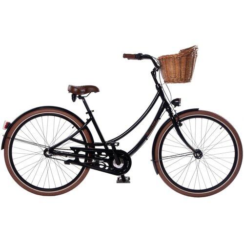 Rower miejski z koszykiem PLUMBIKE Donatella Lady 3B 28 cali damski Czarny