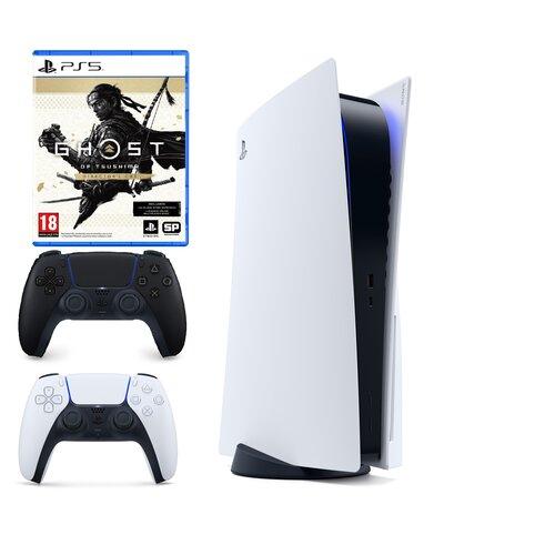 Konsola SONY PlayStation 5 + DualSense Czarny + Ghost of Tsushima Director's Cut