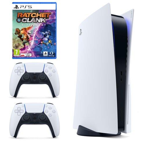 Konsola SONY PlayStation 5 + Kontroler DualSense Biały + Ratchet & Clank: Rift Apart