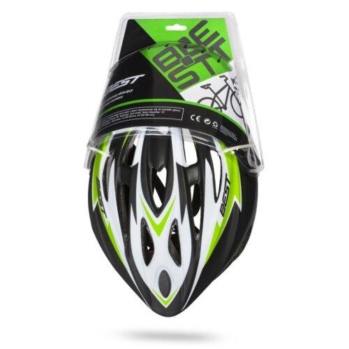 Kask rowerowy BEST MTCKS000037MGR Czarno-zielony MTB (rozmiar M)