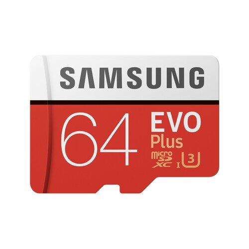 Karta pamięci 64GB micro SD SAMSUNG EVO+ klasa 10 UHS-I MB-MC64DA/EU