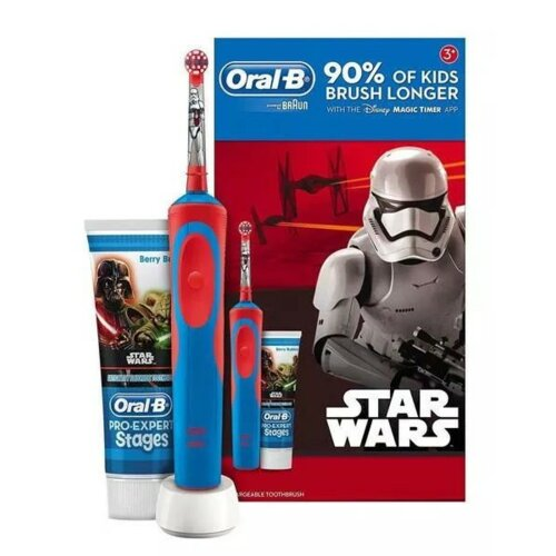 Szczoteczka rotacyjna ORAL-B D12 Kids Star Wars + Pasta do zębów