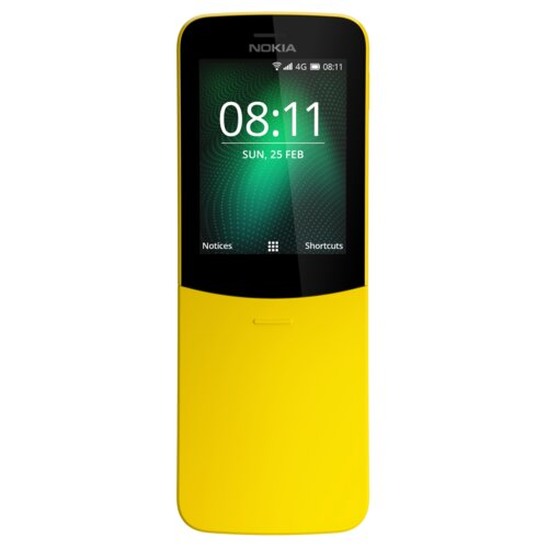 Telefon NOKIA 8110 Dual Sim Żółty
