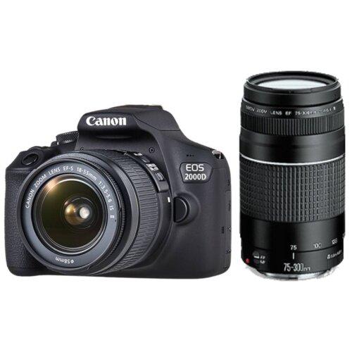 Aparat CANON EOS 2000D + Obiektyw 18-55mm + Obiektyw 75-300mm